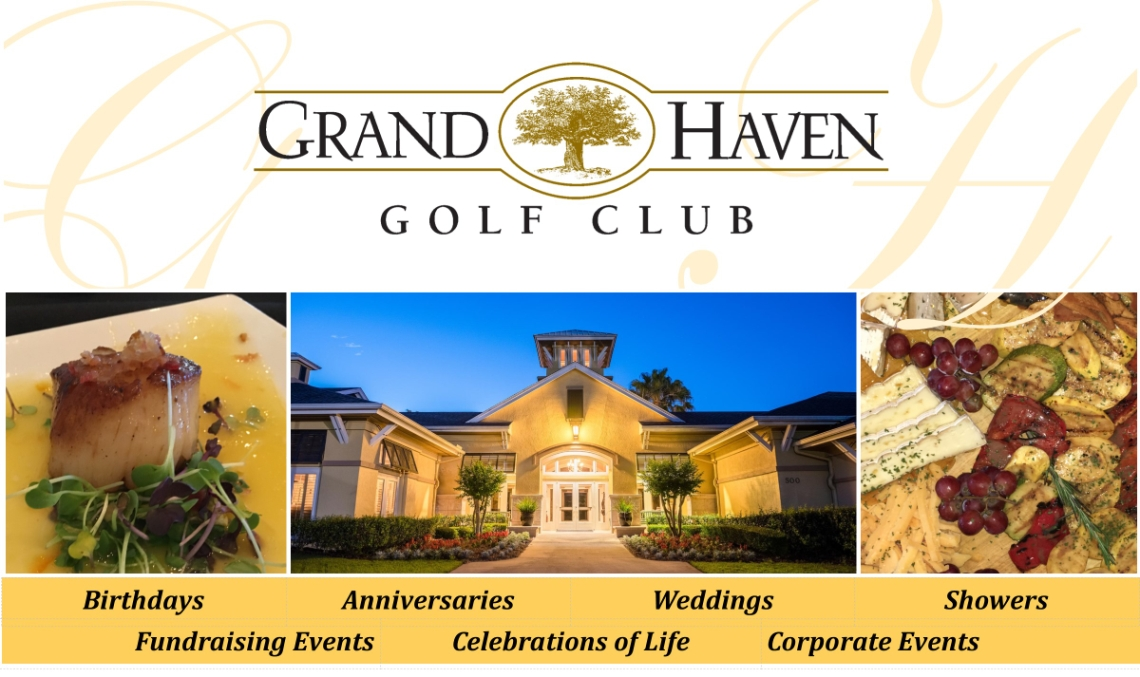 Golf Haven Golf Club special event venue graphic